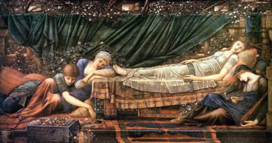 I Live, I Die, I Burn, I Drown - Burne Jones - The Sleaping Beauty - 1890